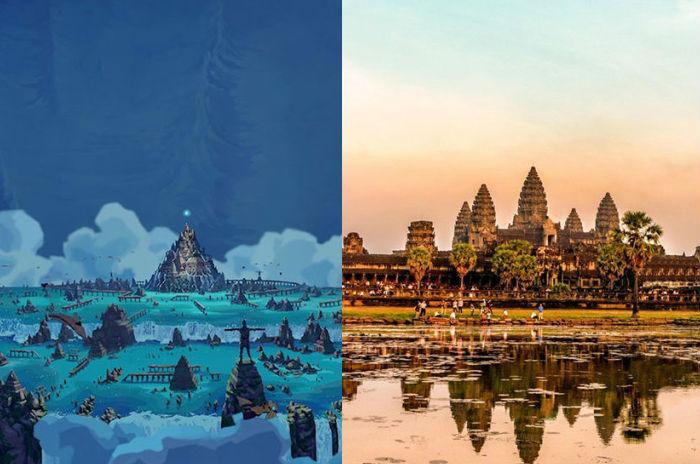 Atlantis e o monumento Angkor Wat, no Camboja