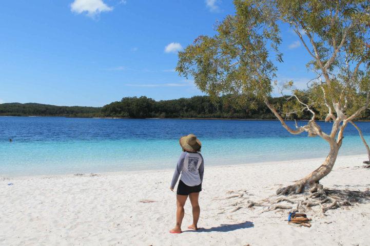 Em Fraser Island, na Austrália