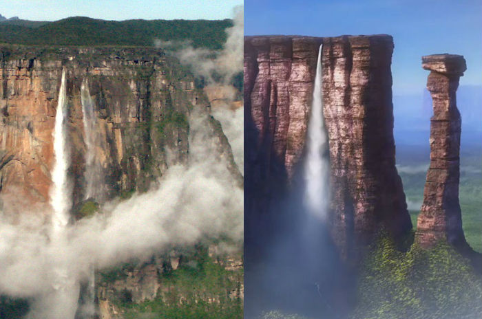 O paraíso do filme UP e San Ángel, na Venezuela