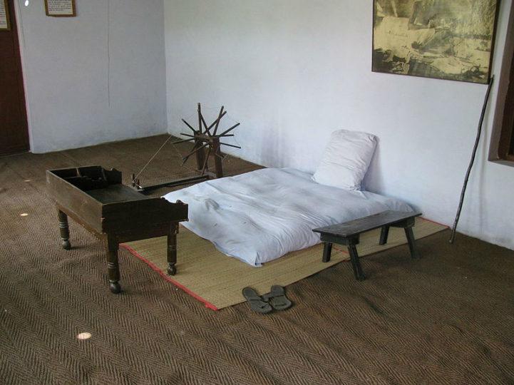 A casa de Mahatma Gandhi, na Índia