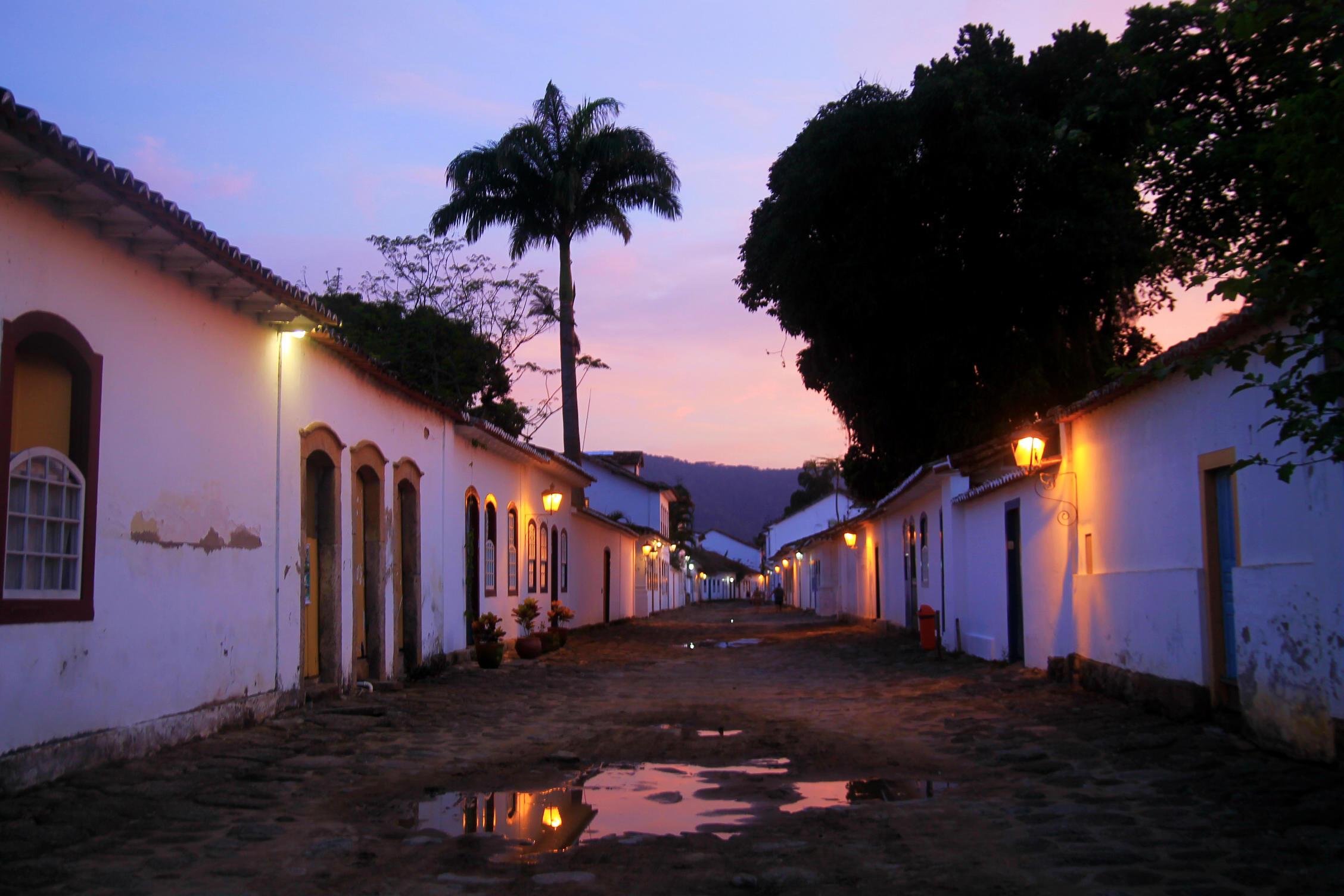 Centro histórico de Paraty, no sul do Rio de Janeiro (Foto: Thaís Sabino)